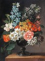 Still Life Of Flowers In A Vase - James Sillett