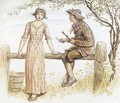 Two At A Stile - Kate Greenaway
