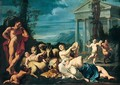 A bacchanal - (after) Marcantonio Franceschini