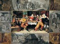 The Corner Scenes En Brunaille - (after) Frans II Francken