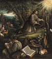 Saint Francis Recieving The Stigmata - (after) Leandro Bassano