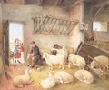 Feeding the sheep - Edwin Frederick Holt
