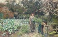 In the kitchen garden - Henry John Yeend King