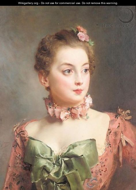 Portrait of a lady 3 - Gustave Jean Jacquet - WikiGallery.org, the ...