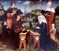 Saint Elizabeth And Saint James Of Compostella With Donors And Their Children A Pair Of Wings From A Triptych - Master Of Frankfurt