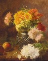 Chrysanthemums And Apples - Eloise Harriet Stannard