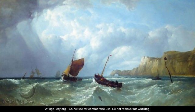 Fishing Vessels Off The Isle Of Wight - John James Wilson