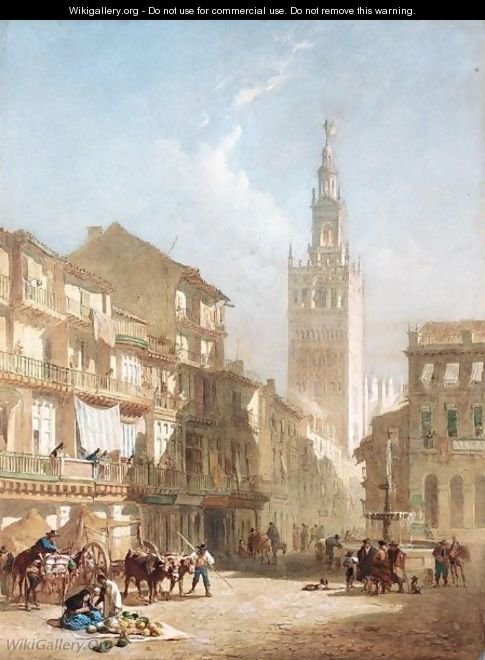 The Giralda, Seville - Edward Angelo Goodall