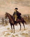 Washington At Valley Forge - Edward Percy Moran