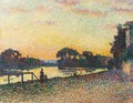Bords De Seine A Herblay, Coucher De Soleil - Maximilien Luce