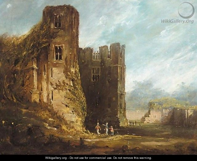 A view of Kenilworth castle - (after) Thomas Allom