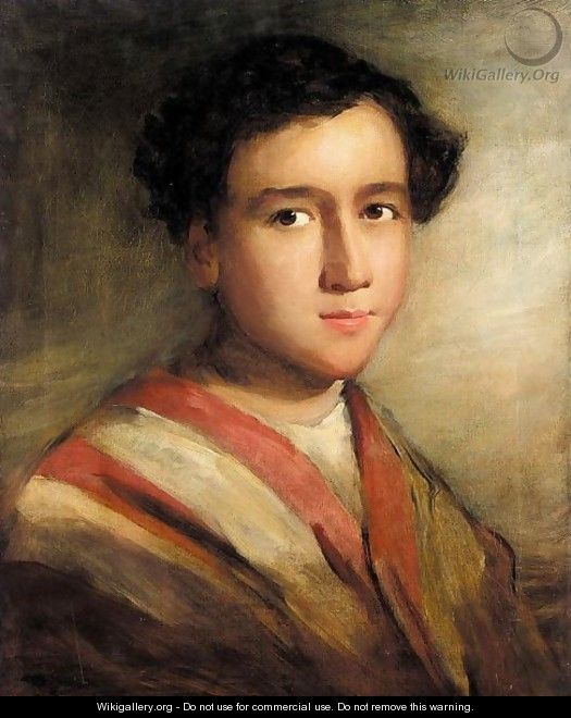 Portrait of a middle eastern boy - Thomas Phillips