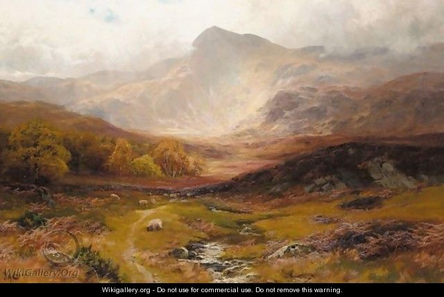 Landscape In Wales - James Henry Crossland