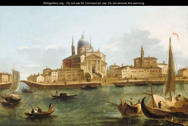 Venice, A View Of The Giudecca With The Church Of Il Redentore - Venetian School