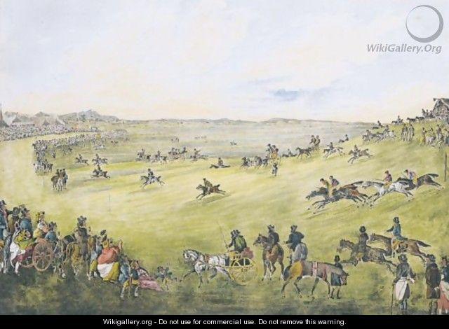 A Country Race Meeting - Walter Parry Hodges