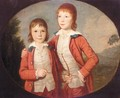 Portrait Of Two Boys - David Allan