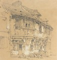 Study Of Old Houses - Richard Parkes Bonington