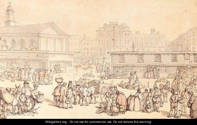 The Market, Covent Garden From The South - Thomas Rowlandson