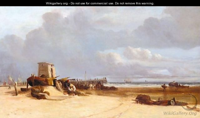 Fishermen Near The Jetty, Great Yarmouth - Thomas Lound