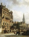A View Of The Jodenbreestraat With The Rembrandthuis, Amsterdam - Cornelis Springer