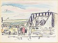 Seaside Theatre, Lower Largo, With A Pink Cloud - George Leslie Hunter