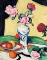 Still Life With Oranges And Roses In An Oriental Vase - Samuel John Peploe