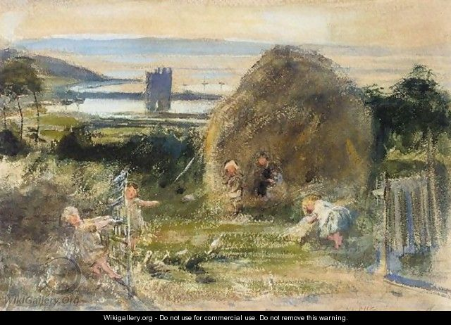 Playing In The Hay - William McTaggart
