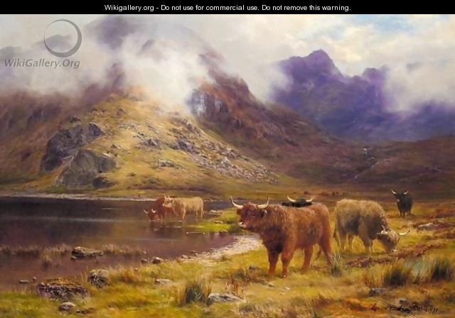 By The Loch - Louis Bosworth Hurt