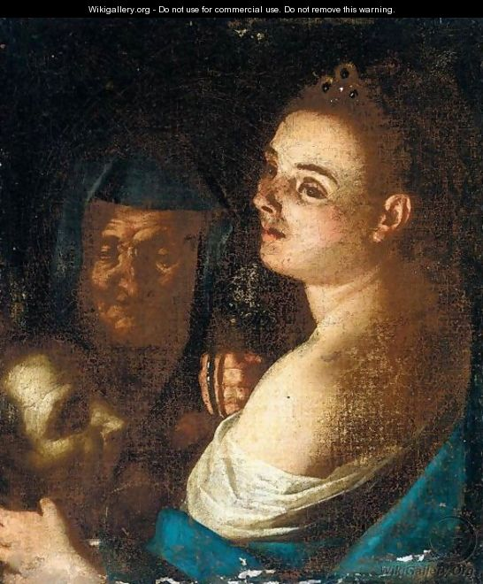 Judith With The Head Of Holofernes And Her Maidservant -  after    Judith And Her Maidservant With The Head Of Holofernes