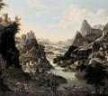 A Rhenish Landscape With A Ferry - (after) Jan Griffier I