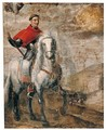 Equestrian Portrait Of Cardinal Francisco Ximenes De Cisneros (1436 - 1517) - Spanish School