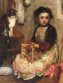 Small Girl With A Cat - Walter Frederick Osborne