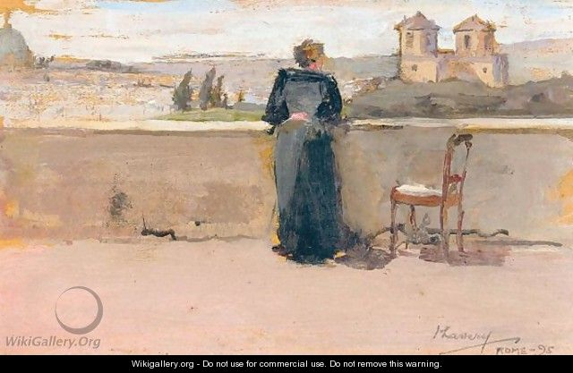 On The Banks Of The Tiber - Sir John Lavery