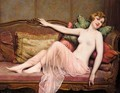 Reclining Nude - Francois Martin-Kavel