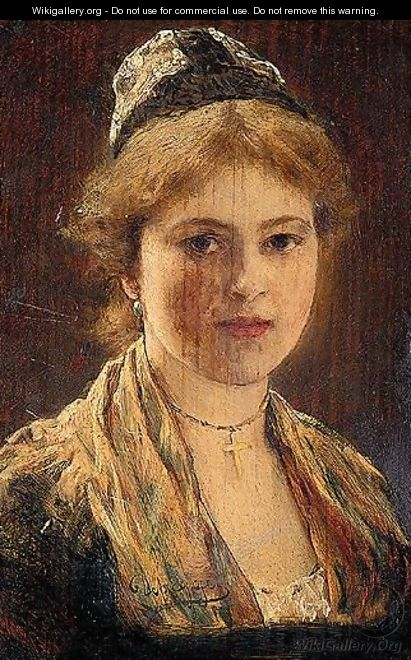 Portrait Of A Woman - (after) Franz Von Defregger