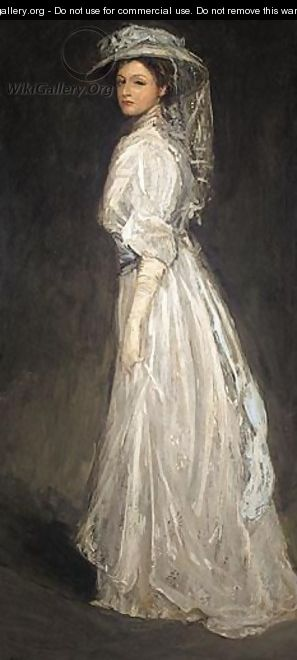Portrait Of Mrs Charles Baker - Sir John Lavery