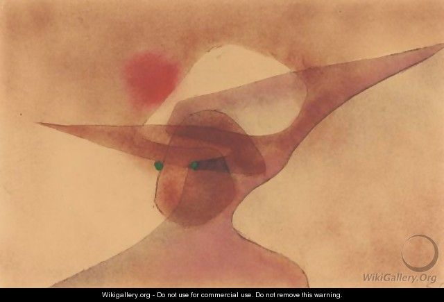 Dame Im Breiten Hut (Lady In A Wide-Brimmed Hat) - Paul Klee