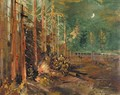 Bivouac On The Forest Edge - Konstantin Alexeievitch Korovin