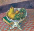 Pears And Grapes (Still Life, Fruit) - William Glackens