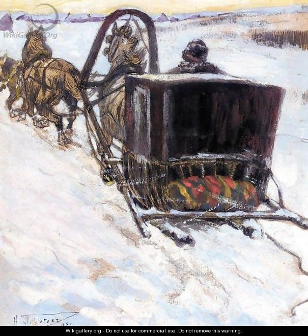 The Covered Sledge - Nikolai Vasilievich Pirogov