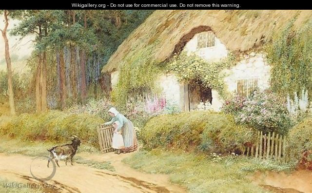 Cottage Garden In Summer - Arthur Claude Strachan