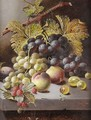 Peaches, Grapes And Rasberries - Oliver Clare