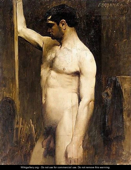 Male Nude In The Studio Of Gustave Moreau 2 - Pierre Amede Marcel-Beronneau