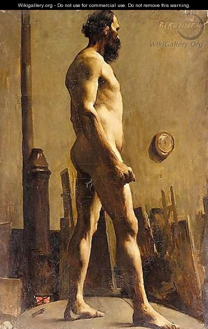 Male Nude In The Studio Of Gustave Moreau - Pierre Amede Marcel-Beronneau