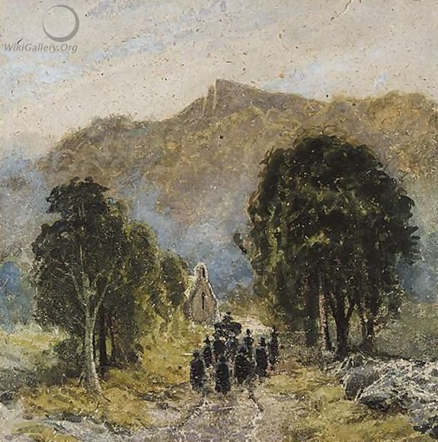 A Funeral At Bettwys-Y-Coed Church, North Wales - David Cox