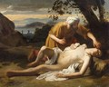 Le Bon Samaritain - (after) Jean Hippolyte Flandrin