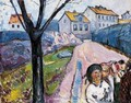 Street In Kragero - Edvard Munch