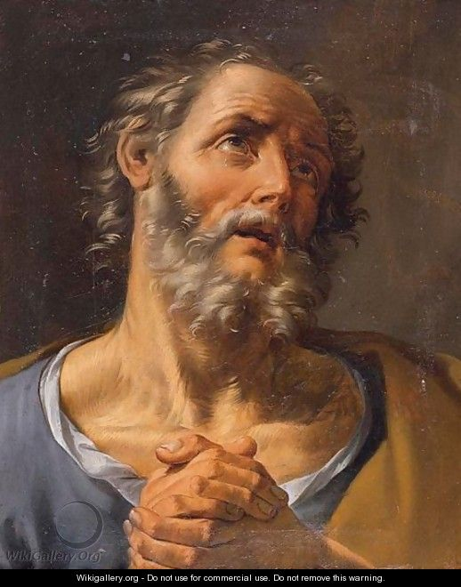 Head Of A Bearded Saint - (after) Guido Reni
