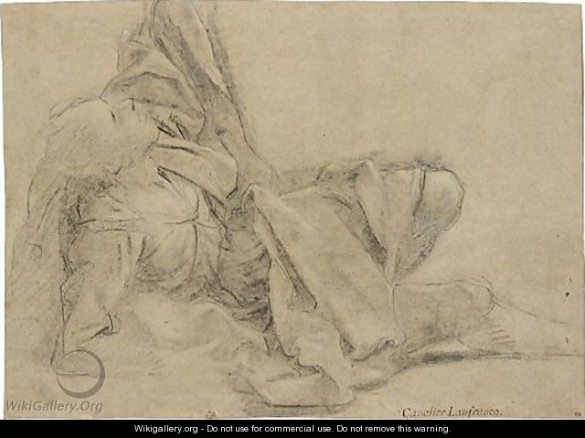 Study Of A Fallen, Draped Figure - (after) Sisto Badalocchio