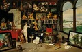 The Sense Of Sight And Touch - Jan, the Younger Brueghel